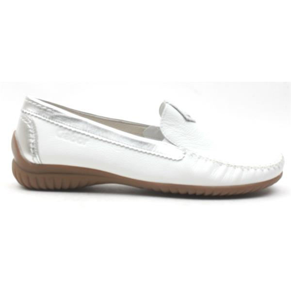 459d8a0ee42 Gabor 26090 Loafer Shoe - White Silver