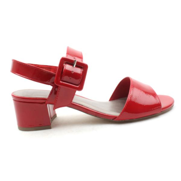 ff87c694735 Tamarais 28211 Block Heel Sandal - Red Patent
