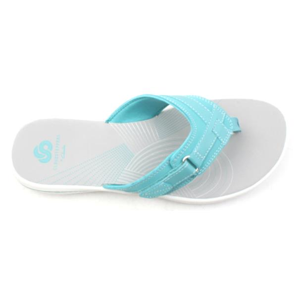 7363dea93368 Clarks Brinkley Sea Toe Post - Aqua