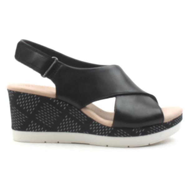 4dec47e5c Clarks Cammy Pearl Wedge Sandal - Black D