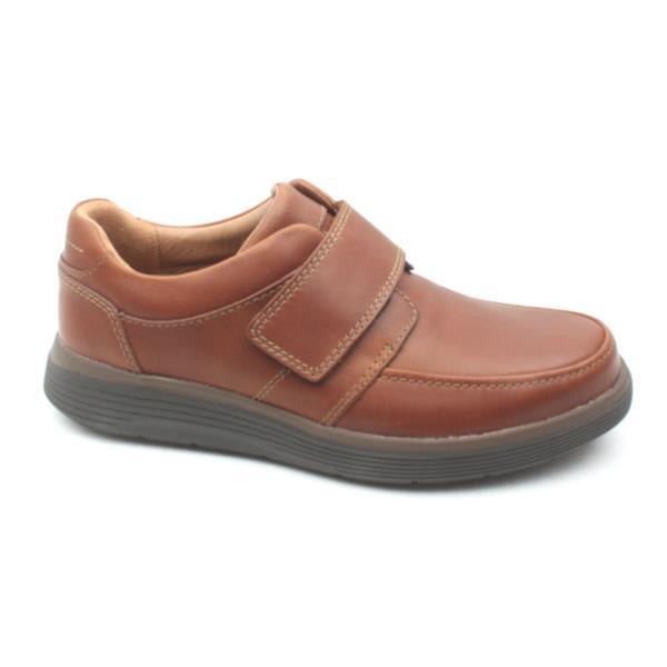 e6e075a3b05 Clarks Unabode Strap Mens Shoe - Dark Tan H