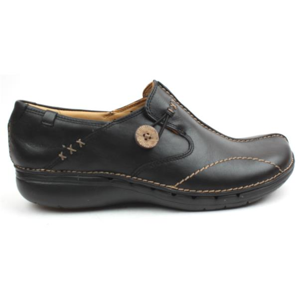 0bcb63c53bd7 Clarks Ladies Shoe Unloop - Black